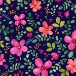 BRILLIANT BLOSSOM on MINKY  - Contact your account manager to purchase this item