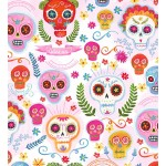 SUGAR SKULLS on MINKY - Contact your account manager to purchase this item
