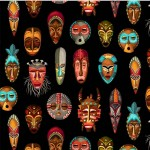INDIGENOUS MASKS ON MINKY