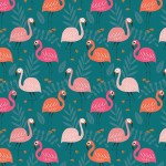 PINK FLAMINGOS ON MINKY