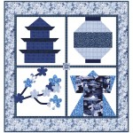"""Snapshots of Japan Quilt by Natalie Crabtree /53""""x56"""" - Instructions Coming Soon"""