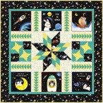 "Space Odyssey Quilt by natalie Crabtree / 50""x50""- pattern Available in October"