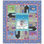 "Climate Hero - Stop Climate Change Quilt by Cabin Quilts  52""x58"""