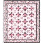 """bella rosa -pink quilt by project house 360 65""""x77""""-pattern available in july, 2021"""