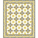 """bella rosa -yellow quilt by project house 360 65""""x77""""-pattern available in july, 2021"""