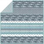 """Trekking Aqua Stone - Minky Strip Quilt /58x58"""""""