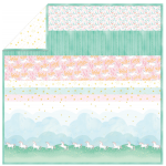 "Unicorn Parade - Strip Quilt /58""x58"""