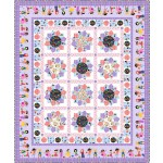 """girls make the world go round quilt - we are all kinds of wonderful by marsha evans moore - pattern available in February 2022  /59""""x70.5"""""""