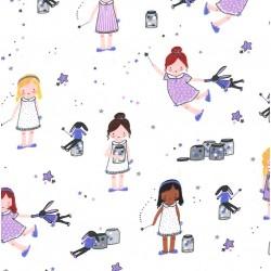 SPRINKLE, SPRINKLE, LITTLE STARS on FLANNEL