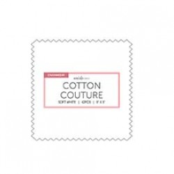 Soft White Cotton Couture Charms- 40 pcs