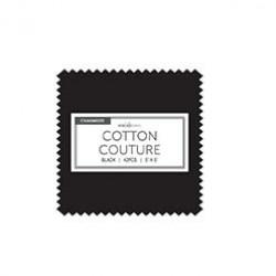 Black Cotton Couture Charms- 40 pcs