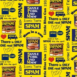 SPAM PRINT ON COTTON DUCK