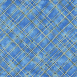 GUILDED PLAID WITH METALLIC