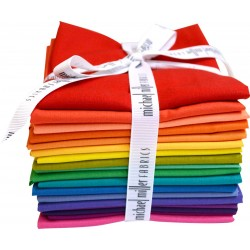 Cotton Couture FAT 1/4 BUNDLE SEW COLORFUL COLORWHEEL 18pcs