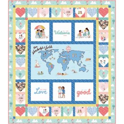 SPREAD THE LOVE QUILT KIT - WONDERFUL WORLD