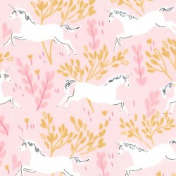 UNICORN FOREST on MINKY- Contact your account manager to purchase this item