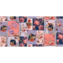 ELDERBERRY FLOWER FAIRIES COLLAGE ON MINKY - NOT FOR PURCHASE BY MANUFACTURERS