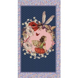 ELDERBERRY FLOWER FAIRIES PANEL ON MINKY - NOT FOR PURCHASE BY MANUFACTURERS