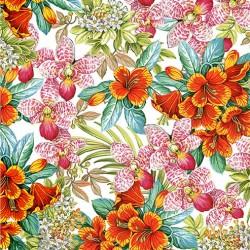 VIBRANT FLOWERS ON MINKY
