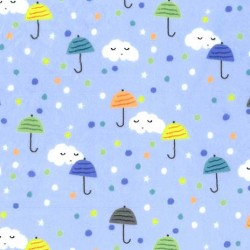 HAPPY CLOUDS on MINKY - contact your account manager to purchase this item