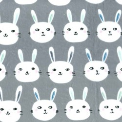 BUNNY BUNCH  on MINKY- Contact your account manager to purchase this item