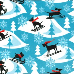 SNOW DOGS ON MINKY  - Contact your account manager to purchase this item