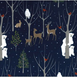 WILDLIFE WINTER ON MINKY  - Contact your account manager to purchase this item