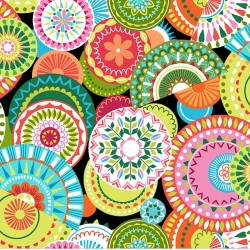 COLORFUL MEDALLIONS ON MINKY