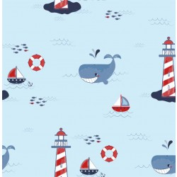 LIGHTHOUSE on MINKY- Contact your account manager to purchase this item