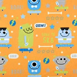 SK8 MONSTER on MINKY- Contact your account manager to purchase this item
