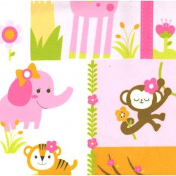 JUNGLE PRINCESS on MINKY- Contact your account manager to purchase this item