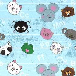ANIMAL LETTER SCATTER on MINKY - Contact your account manager to purchase this item