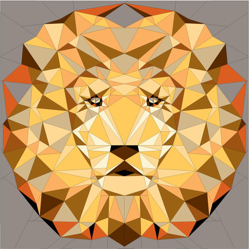 jungle abstraction savannah lion by violet craft 60x60