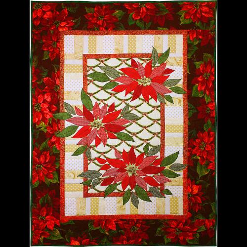 Scarlet Poinsettias Quilt