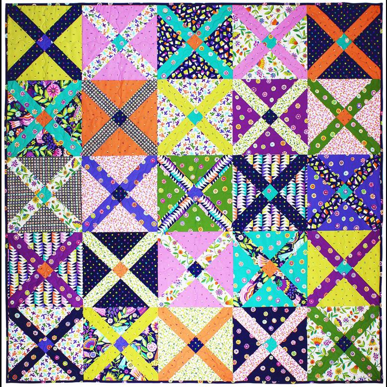 Quilt Patternxblock : King s Cross Quilt by Tara Faughnan / 60x60
