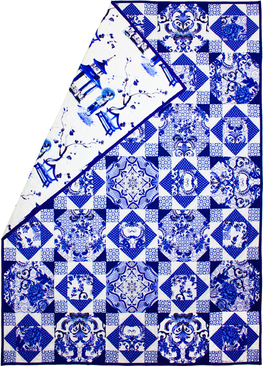 Blue White Porcelain Quilt