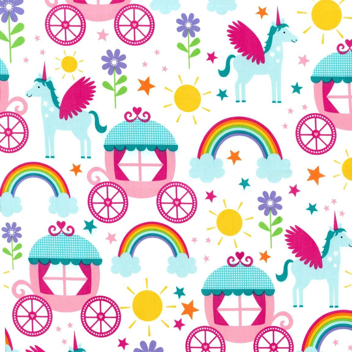 Cx6339 Rainbows Amp Unicorns Princess Kids Children Girls