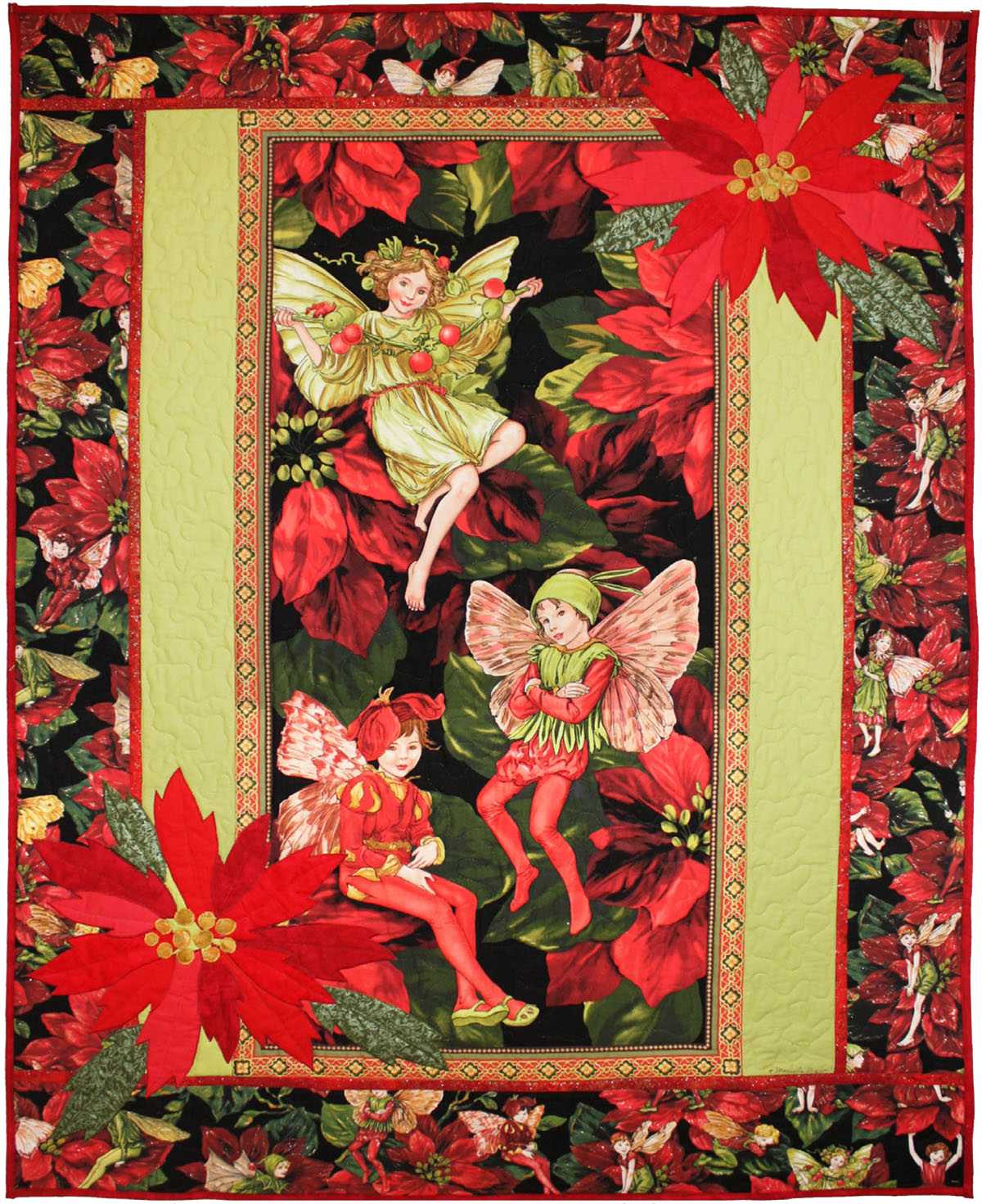 Holiday Flower Fairies Panel