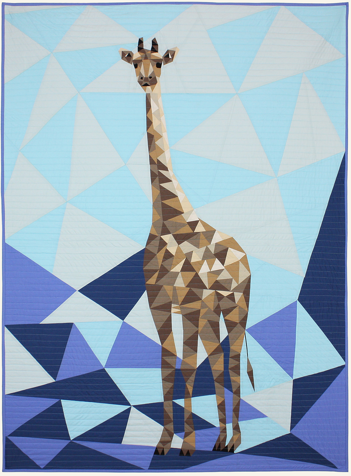 Jungle Abstractions The Giraffe Blue By Violet Craft