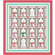 "MINKY A Beary Christmas Quilt by Wendy Sheppard / 72.5""x80.5"""