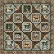 """Cabin in the Woods Quilt by Marsha Evans Moore /68""""x68"""""""