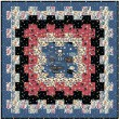 """Cogs in Space Dusk Quilt by Lisa Swenson Ruble /52""""x52"""""""