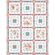 "Cottage Rose Quilt by Heidi Pridemore /50""x65.5"""