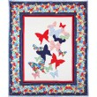 "Flutterby Quilt Designed by Emily Herrick, Quilted by Nancy Iacono / 73""x98"""