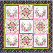Garden Party Quilt by Heidi Pridemore / 73x73""