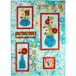 Gathered Poppies Quilt by Marinda Stewart   / 39x55""