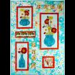 """Gathered Poppies Quilt by Marinda Stewart   / 39x55"""""""