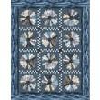 "Strata Granite Blooms Graphite Quilt by Heidi Pridemore /59""x75"""