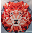 Jungle Abstraction Lion by Violet Craft  60x60""
