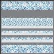 """Kashmir Sky-MINKY Strip Quilt /58x58"""""""